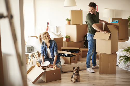 a couple moving for new year as one of their resolutions