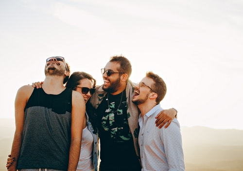 image of group of friends having fun
