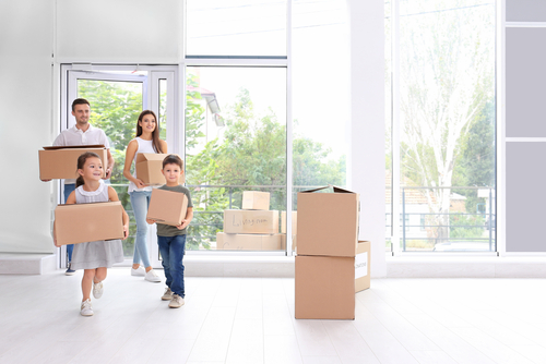 image of family moving to a new home